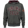 Virginia Tech Distressed Applique Full-Zip Hoodie