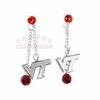 Virginia Tech Double Drop Earrings