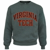 Virginia Tech Embroidered Twill Crew Charcoal Sweatshirt