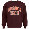Virginia Tech Embroidered Twill Crew Sweatshirt: Maroon