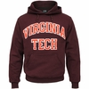Maroon Virginia Tech Embroidered Twill Hooded Sweatshirt