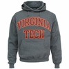 Charcoal Virginia Tech Embroidered Twill Hooded Sweatshirt