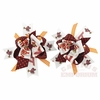 "Virginia Tech ""Fan""tasy Chevron Bow Hair Clips"