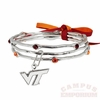 Virginia Tech Fashion Bangles Bracelet
