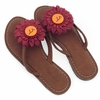 Virginia Tech Flower Sandals