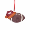 Virginia Tech Football with Santa Hat Ornament