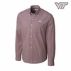 Virginia Tech Gingham Button Up by Cutter and Buck