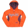 Virginia Tech Girl's Polka Dot Full Zip Hoodie
