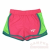 Virginia Tech Girls Neon Athletic Shorts