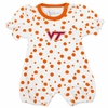 Virginia Tech Girls Orange Dot Romper