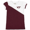 Virginia Tech Girls Youth Caz Contrast Tee