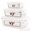 Virginia Tech Glass Food Container Set