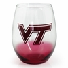 Virginia Tech Gradient Stemless Wine Glass