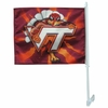 Virginia Tech Hokie Bird Burst Car Flag