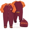 Virginia Tech Hokies Footie and Beanie Set