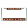Virginia Tech Hokies Reflective License Plate Frame