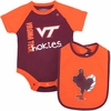 Virginia Tech Hokies Rookie Bodysuit and Bib Set