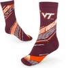 Virginia Tech Hokies Striped Socks
