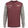 Virginia Tech Homefield Henley Long Sleeved Shirt