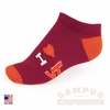 Virginia Tech I Heart VT Socks