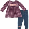 Virginia Tech Infant Shining Polka Dot Dress and Legging Set