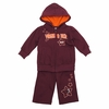Virginia Tech Infant Starburst Fleece Set