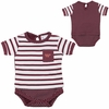 Virginia Tech Infant Striped Dot One-Piece