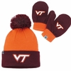 Virginia Tech Kids Knit Cap and Mittens Set