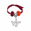Virginia Tech Logo and Rhinestone Charms