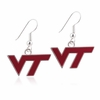 Virginia Tech Logo Enamel Earrings
