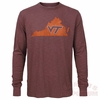 Virginia Tech Long Sleeved Scrum Tshirt from 47 Brand