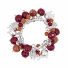 Virginia Tech Maroon and Orange Bead Bracelet