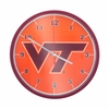 Virginia Tech Maroon and Orange Clock