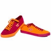 Virginia Tech Maroon and Orange Mismatched Canvas Sneakers