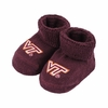 Virginia Tech Maroon Baby Booties