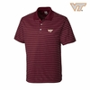 Virginia Tech Maroon Crewhouse Stripe Polo by Cutter & Buck