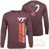 Virginia Tech Mens Long Sleeve Twister Tee