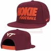 Virginia Tech Nike Hokie Football Snapback Hat