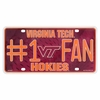 Virginia Tech Number One Fan License Plate