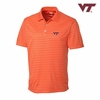 Virginia Tech Orange Crewhouse Stripe Polo by Cutter & Buck
