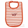 Virginia Tech Orange Stripe Baby Bib