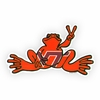 Virginia Tech Peace Frog Decal