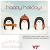 Virginia Tech Penguin Holiday Cards 10pk