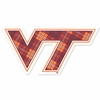 Virginia Tech Plaid Decal