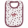 Virginia Tech Polka Dot Baby Bib
