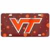 Virginia Tech Polka Dot Laser License Plate