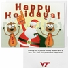 Virginia Tech Santa and Reindeer Greeting Card 10pk