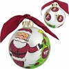 Virginia Tech Santa Glass Ornament