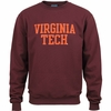 Virginia Tech Single-Layer Applique Crew