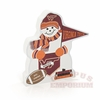 Virginia Tech Snowman Wooden Village Block